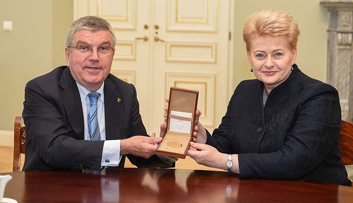IOC PRESIDENT CELEBRATES LITHUANIAN NOC ANNIVERSARY - SPEAKS AT WOMEN'S LEADERSHIP CONFERENCE