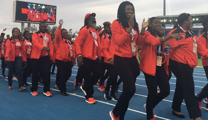 Team TTO Bahamas 2017 Commonwealth Youth Games Opening Ceremony