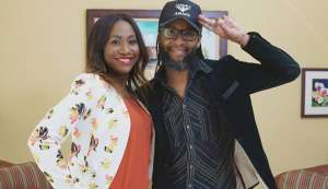 Entertainment and sports lawyer Carla Parris with Jules Sobion, creator of the Caesar's Army carnival brand.