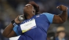 Michelle Carter produces her Olympic gold-winning throw in the last round ©Getty Images