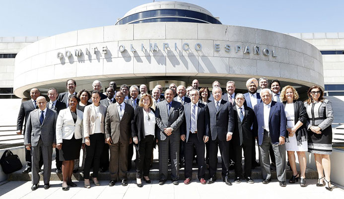 The ANOC Executive Council met in Madrid today ©ANOC