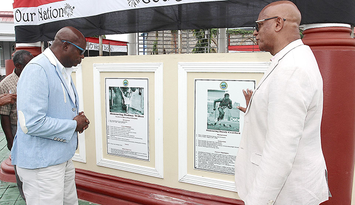 San Fernando immortalises hometown heroes Crawford and Wilkes