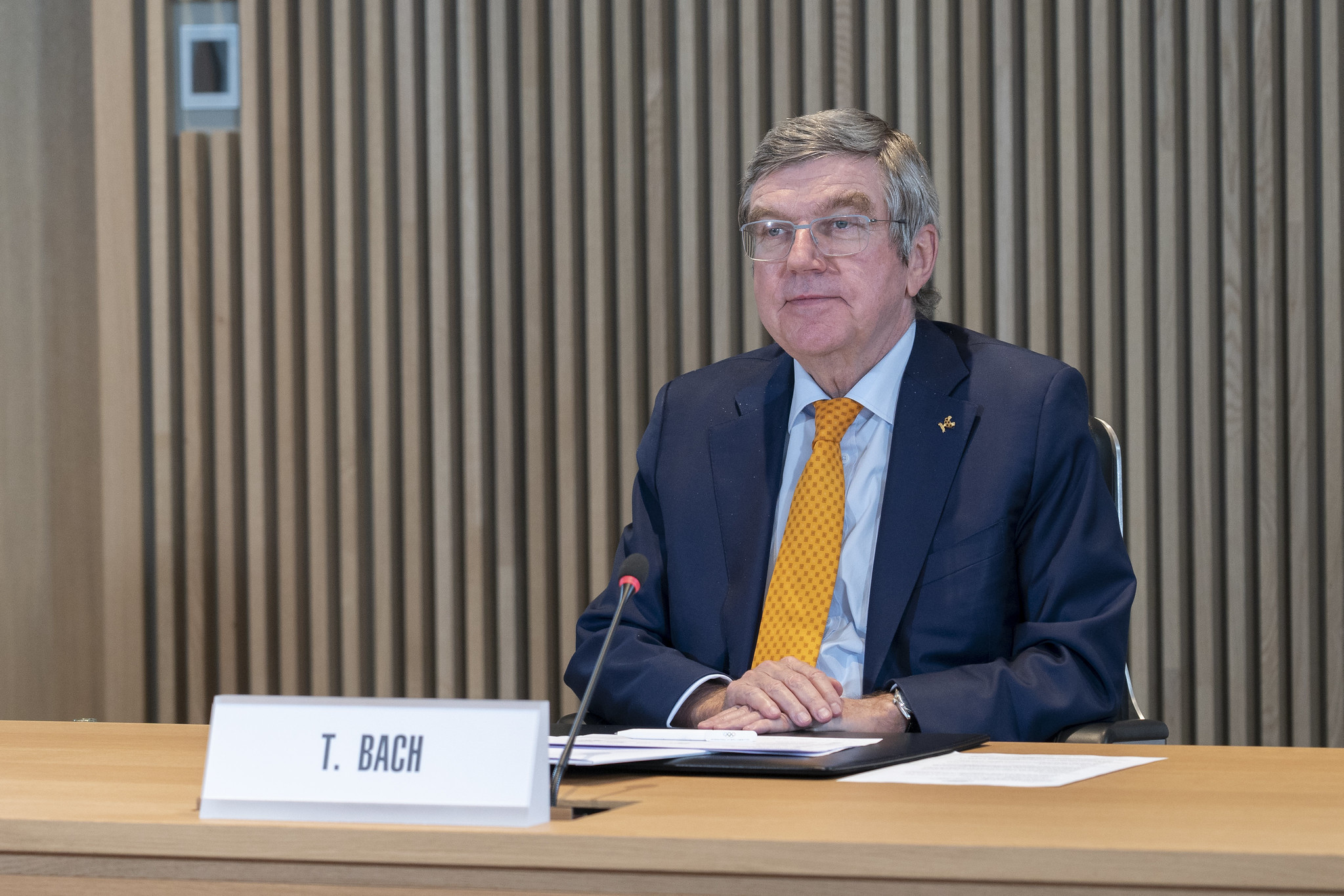 IOC President Thomas Bach has been adamant the Tokyo 2020 Olympics will take place ©IOC