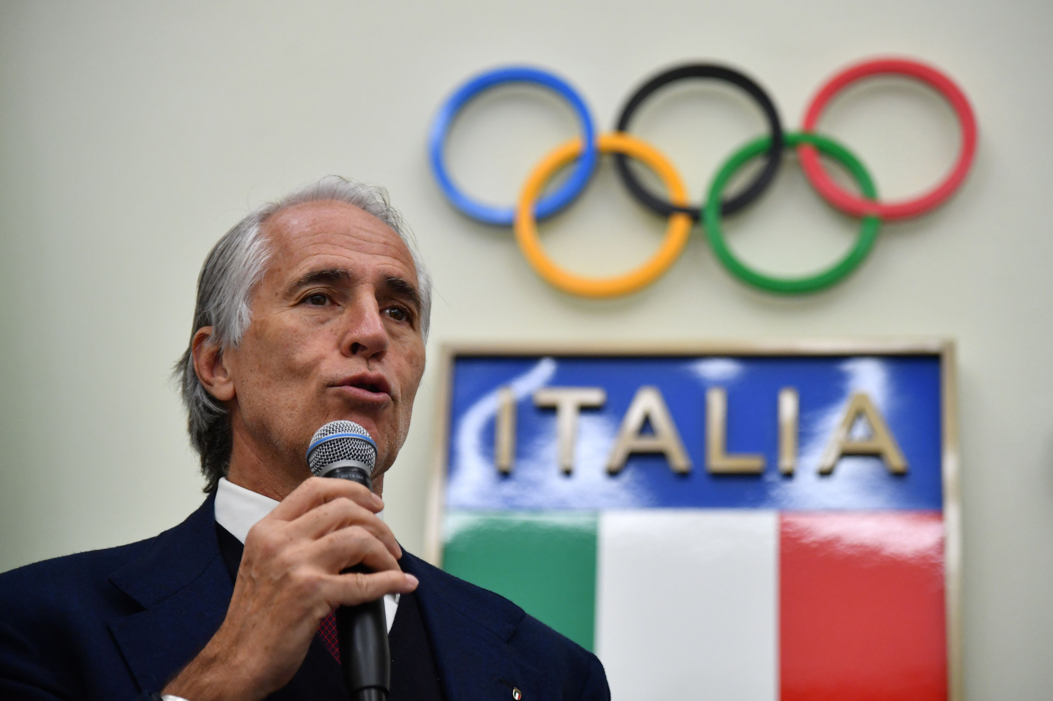 "Italian NOC President Giovanni Malagò says his organisation will ""never"" seek vaccines for Tokyo 2020-bound athletes ahead of more vulnerable citizens ©Getty Images"