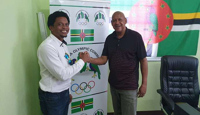 CANOC President Brian Lewis and Dominica Olympic Committee counterpart Billy Doctrove met in Roseau ©CANOC/DOC