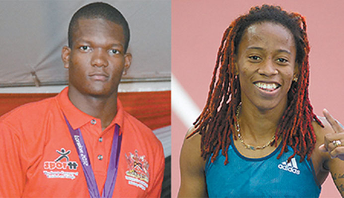 Javelin thrower Keshorn Walcott and sprinter Michelle-Lee Ahye named on the T&T team for the IAAF Wolrd Championships.